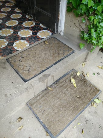 Lovelady Shield Country House Hotel: Threadbare mats and stained step