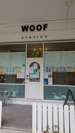 Woof Station: Shop front