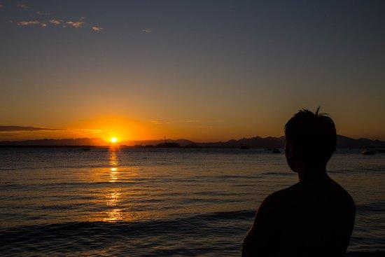 Por do Sol - Em frente da pousada Marimar.