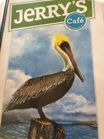 Jerry's Foods: menu cover