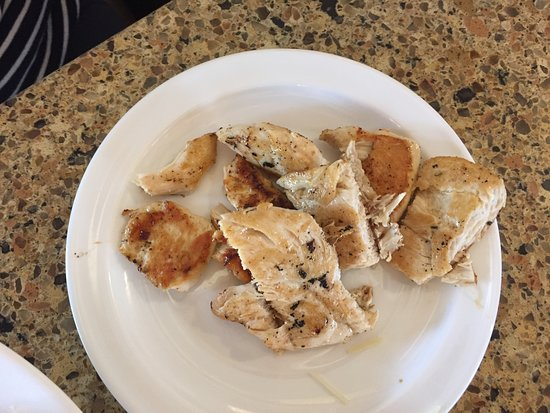 Jerry's Foods: dry tepid grilled chicken without concern for presentation