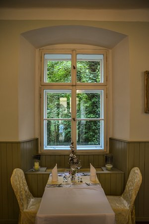 Hostacov, Czech Republic: window table view