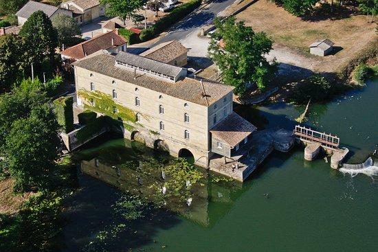 Porcheres, Frankreich: Vue aérienne du Moulin