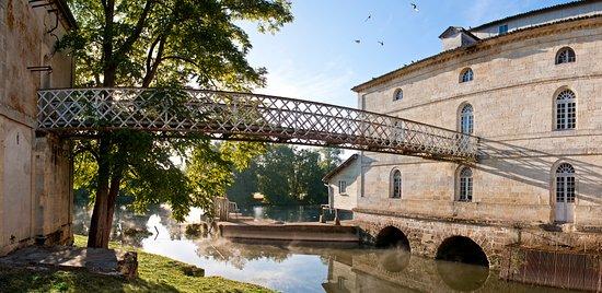 Porcheres, Frankreich: Vue de la terrasse du Moulin