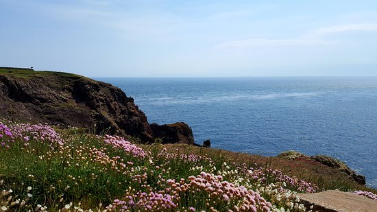 Mull of Galloway, UK: The view ...