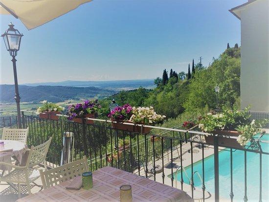 Locanda I Grifi: Vista dalla nostra terrazza panoramica in una bellissima giornata di sole