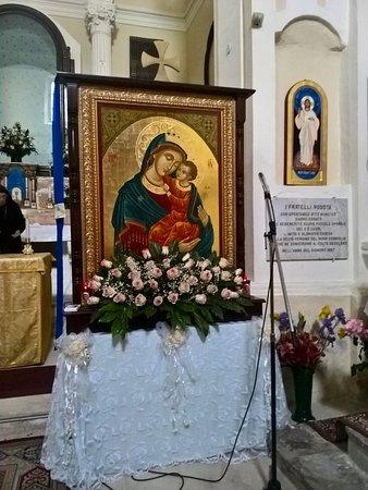 Chiesa della Madonna del Buon Consiglio - Odigitria del tipo Glykophilousa (Madonna con bambino)