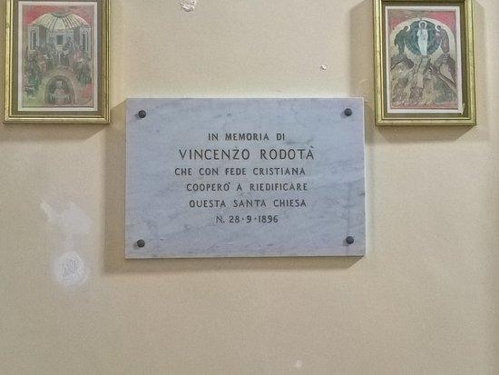 Chiesa della Madonna del Buon Consiglio - targa commemorativa