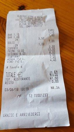 Pieve Tesino, Italy: Sempre all'altezza della ristorazione in questa zona