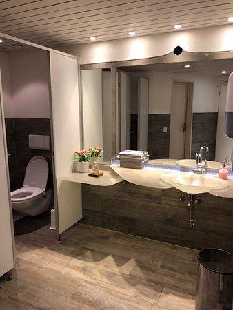 Hotel Restaurant Hirschen: Sparking Clean Restrooms Downstairs