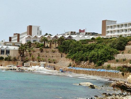 Mellieha Bay Hotel: Beach view