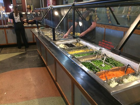 HuHot Mongolian Grill: Vegetable dishes