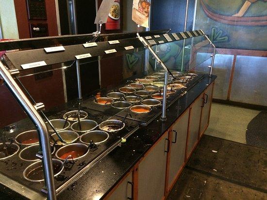 HuHot Mongolian Grill: Sauces.