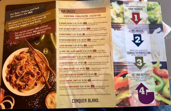 HuHot Mongolian Grill: Outside menu.
