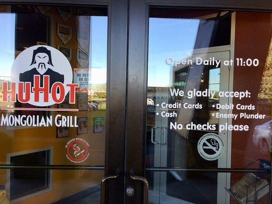 HuHot Mongolian Grill: Front entrance.