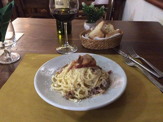 Ponzano Romano, Italy: Spaghetti Carbonara