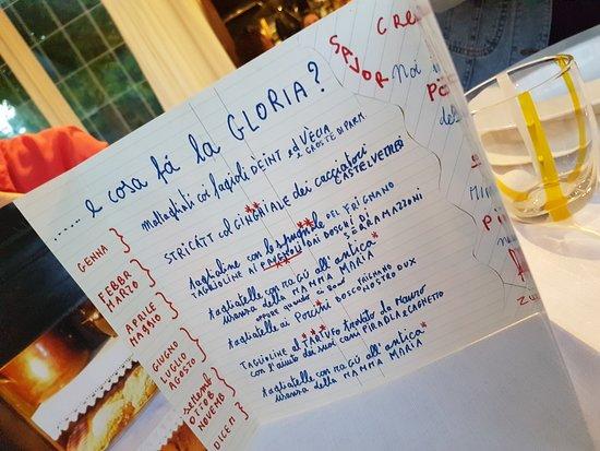Agriturismo San Polo: Il menù stagionale