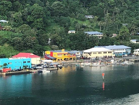 Tour American Samoa: coming into Pago Pago on the Emerald Princess