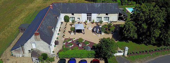 Ariel View of Les Peupliers B&B and Cookery School