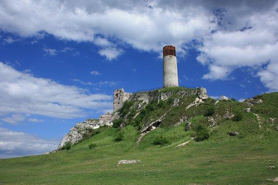 Ruiny Zamku w Olsztynie.