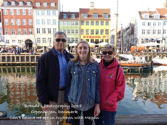 Nyhavn: With our granddaughter.