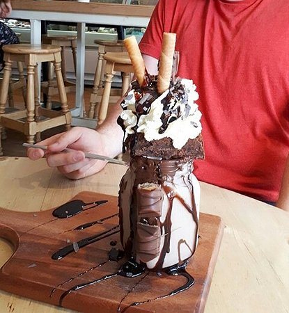 Hooray's British Gelato Kitchen: Nutella fancy shake.