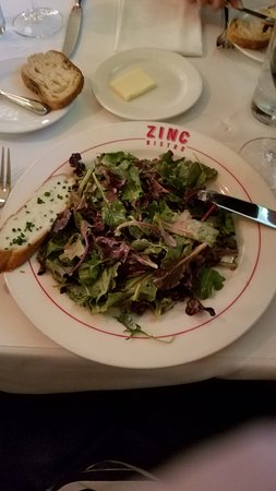 Zinc Bistro: The Zinc House Salad.