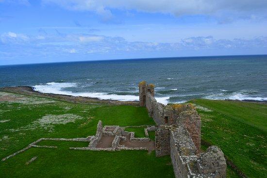 Dunstanburgh Castle: Ausblick auf die Nordsee