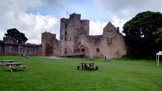 Ludlow Castle: External view of castle entrance