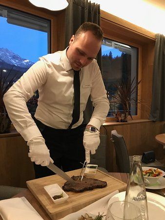 Das Graseck - my mountain hideaway: Our waiter made great wine and food suggestions.