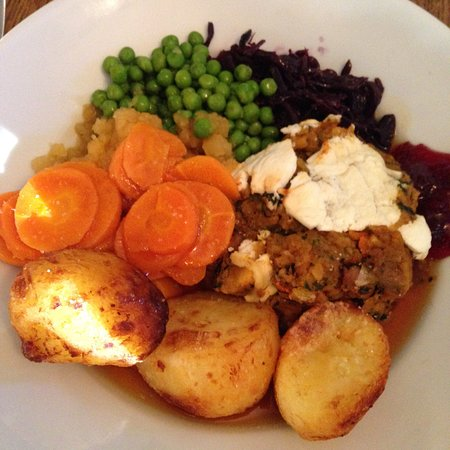 The George Inn: Delicious vegetarian meal today 😃