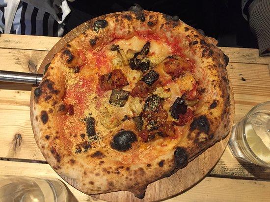 Purezza Camden: Parmigiana Part Pizza - The salsiccia was amazing!!