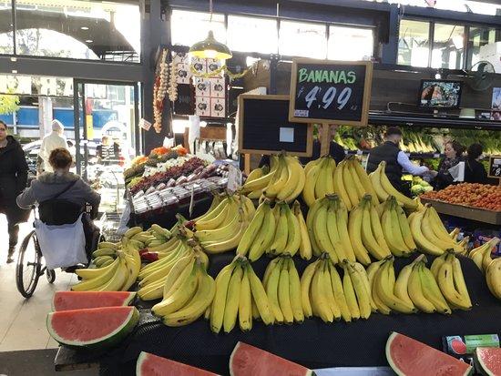 Prahran Market: Bananas for 5 AUD. It's not cheap.