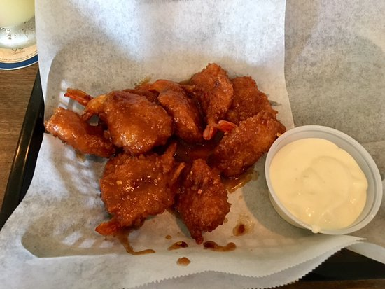 Decatur, IN: Double Eagle Fried Shrimp with teriyaki sauce