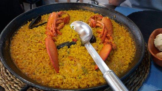 Rincon De Javi : paella de bogavante...riquisima..