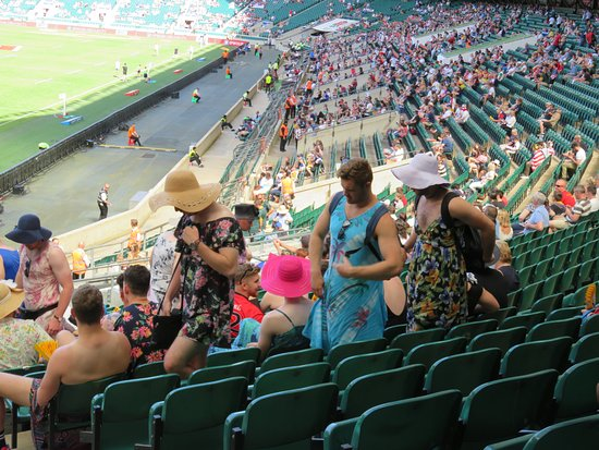 Twickenham Stadium: The lads dressed up for the occasion.