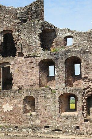 Raglan Castle: windows