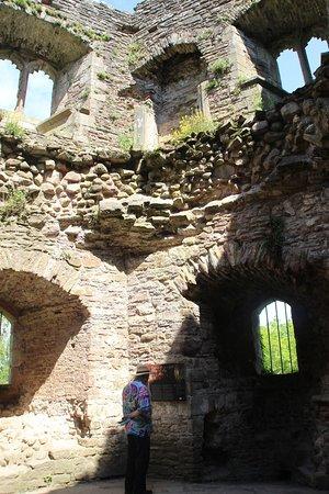 Raglan Castle: inside
