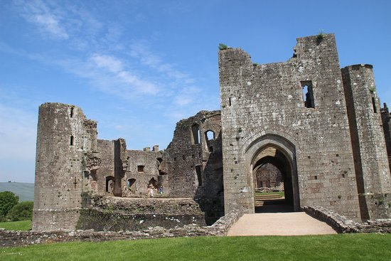 Raglan Castle: view from picnic area