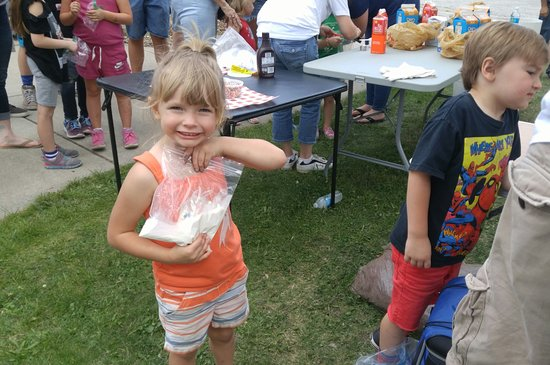 Cedar Lake, IN: New generations have old-fashioned fun making ice cream at the Family Fun Fest each August.