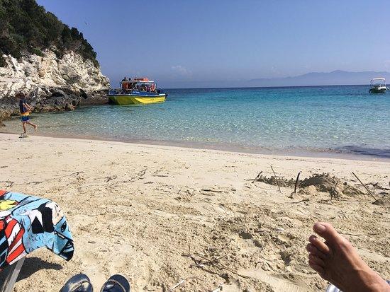 AntiPaxos beach showing boat landing