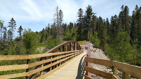 Parc de la Rivière du Moulin: Vue du pont
