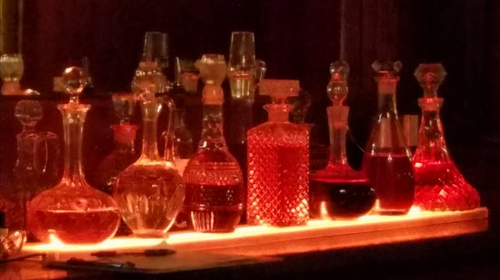 Traverse City, MI: Antique decanters with infused spirits