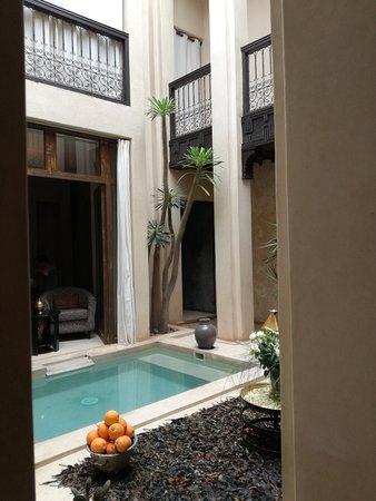 Riad Vanilla sma: La piccola piscina al centro del Riad