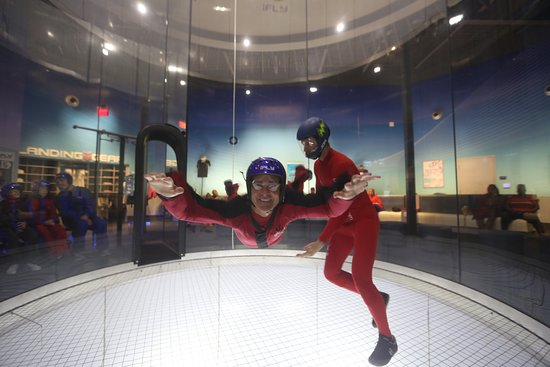 iFLY Indoor Skydiving - Atlanta: Never thought my husband would do this.