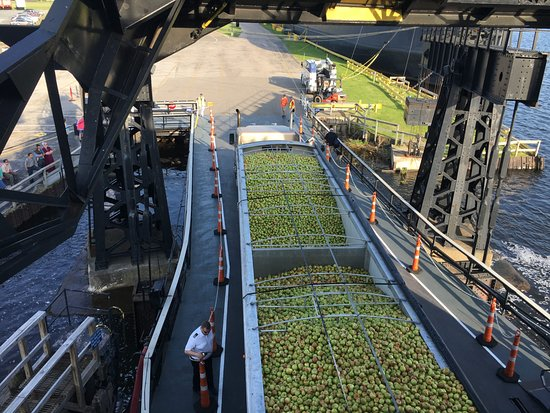 S.S. Badger: Lake Michigan Carferry: Wisconsin apples, the secret ingredient of Michigan cider.