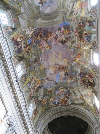 Chiesa di Sant'Ignazio di Loyola: The highly-elaborate Baroque Ceiling