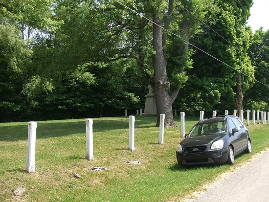 Chief Menominee Monument: Monument Grounds from Peach Road