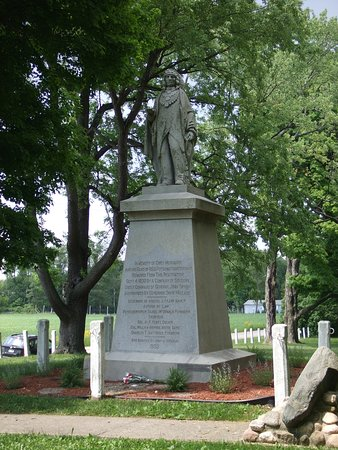 Chief Menominee Monument: Vertical view.