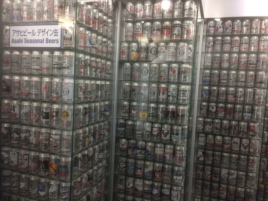 Asahi Breweries Suita Brewery: Showcase of Asahi beer packaging